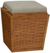 Household Essentials Bamboo Storage Ottoman
