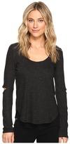 Lanston Cut Out Long Sleeve Tee Women's T Shirt