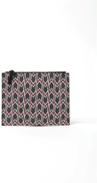 Maje Printed Faux Leather Clutch