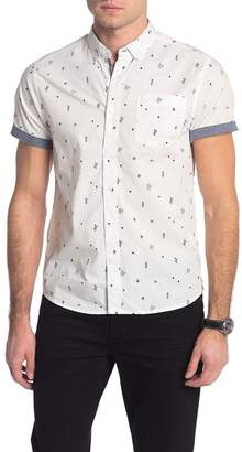 Report Collection Bird Print Slim Fit Shirt