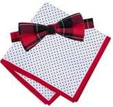 Lord & Taylor BOYS 8-20 Polka Dotted Pocket Square and Bow-Tie Set