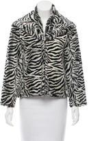 Alice + Olivia Zebra Print Faux Fur Jacket