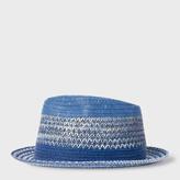 Paul Smith Men's Sky Blue Woven Trilby Hat