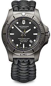 Victorinox Men's I.N.O.X. Professional Diver Sandblasted Titanium Black Camo Paracord Strap Watch