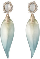Alexis Bittar Crystal Accented Petal Drop Post Earring