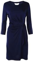 Diane von Furstenberg Three-Quarter Sleeve Tie Dress