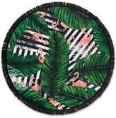 Lamont Lamont Bonfire Bay Flamingo Cabana Round Beach Towel