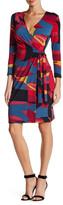 Anne Klein Printed Classic Wrap Dress