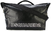 DSQUARED2 Nero duffel bag - men - Cotton/Polyurethane - One Size