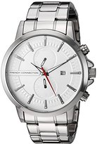 French Connection Men's Quartz Watch with Silver Dial Analogue Display and Silver Stainless Steel Bracelet FC1270SM