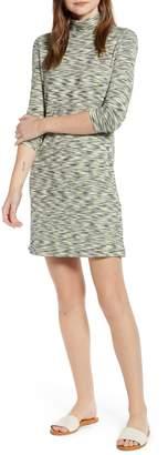 Lou & Grey Space Dye Long Sleeve Sweater Dress