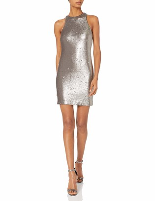 Halston Women's Racerback Sequined Dress