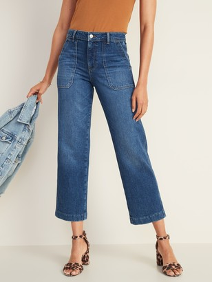Old Navy High-Waisted Slim Wide-Leg Workwear Jeans for Women