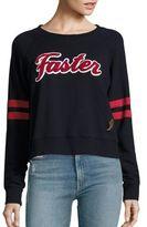 Mother Super Square Faster Cotton Varsity Sweatshirt