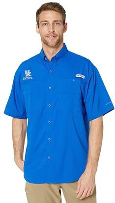 Columbia College Kentucky Wildcats CLG Tamiamitm Short Sleeve Shirt (Azul) Men's Clothing