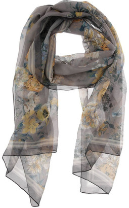 Innovare Made in Italy Watercolour Floral Chiffon Scarf
