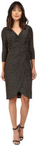London Times 3/4 Sleeve Side Ruched Sheath