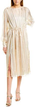 IRO Beloved Silk-Blend Midi Dress