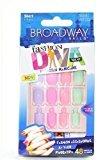 Broadway Fashion Diva Nail Kit Short Length PASTELS BMFD02 by Kiss