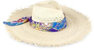 Etro Bandanna Raffia Sun Hat