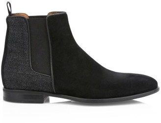 Aquatalia Adrian Mixed-Media Chelsea Boots