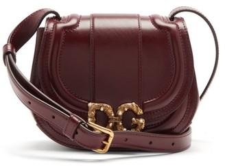 Dolce & Gabbana Amore Leather Cross-body Bag - Burgundy