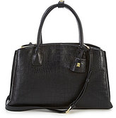 Antonio Melani Triple Threat Crocodile-Embossed Satchel