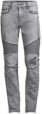 True Religion Men's Rocco Slim-Fit Moto Jeans