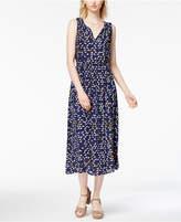 Maison Jules Bird-Print Maxi Dress, Created for Macy's