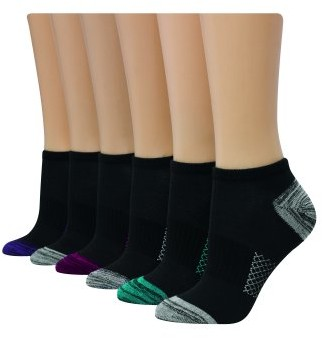 Hanes Women's Comfort Cool Lightweight No-Show Socks 6 pack
