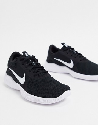 Nike Running Flex Experience RN9 trainers in black/white