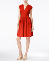 Maison Jules Cap-Sleeve Fit & Flare Dress, Only at Macy's