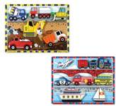 Melissa & Doug Vehicle and Construction Puzzles