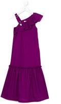 Jean Paul Gaultier asymmetric ruffle dress - kids - Cotton - 8 yrs
