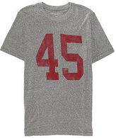 Aeropostale Mens Number 45 Pocket Graphic T Shirt Gray