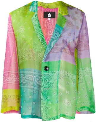 DUOltd Paisley Colour-Block Blazer