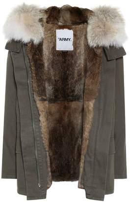 Yves Salomon Army ur-lined cotton jacket