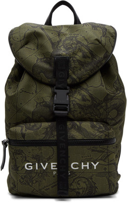 Givenchy Khaki Astro Floral Backpack