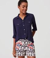 """LOFT Vineyard Stripe Riviera Shorts with 4"""" Inseam"""