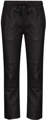 Lot Lthr Cropped Leather Trousers