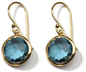 Ippolita 18kt yellow gold small Lollipop London blue topaz drop earrings