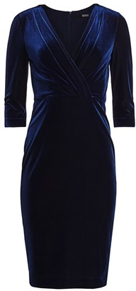 Badgley Mischka Velvet Drape Dress