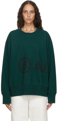 MM6 MAISON MARGIELA Green Logo Sweatshirt