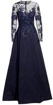 Teri Jon By Rickie Freeman Illusion Ball Gown