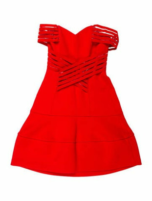 Nicholas Strapless Mini Dress Red
