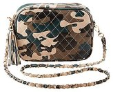 Charlotte Russe Camo Quilted Crossbody Bag