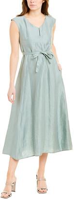 Weekend Max Mara Linen & Silk-Blend A-Line Dress