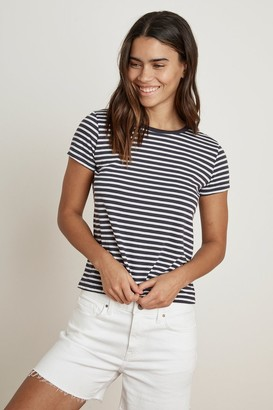 Velvet by Graham & Spencer Hadley Stripe Jersey Crew Neck Tee