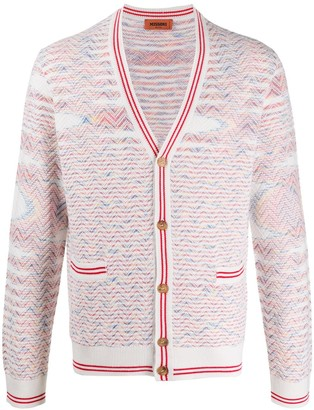 Missoni Embroidered Long-Sleeve Cardigan