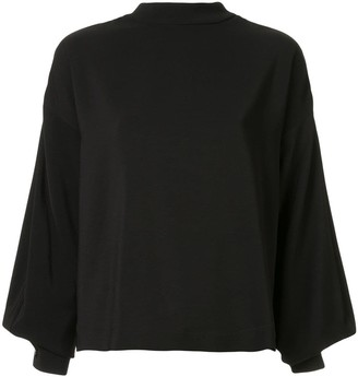 Taylor Fractionated balloon sleeve blouse